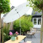Gezellig plekje tijdens tuinverbouwing - Solero Parasol